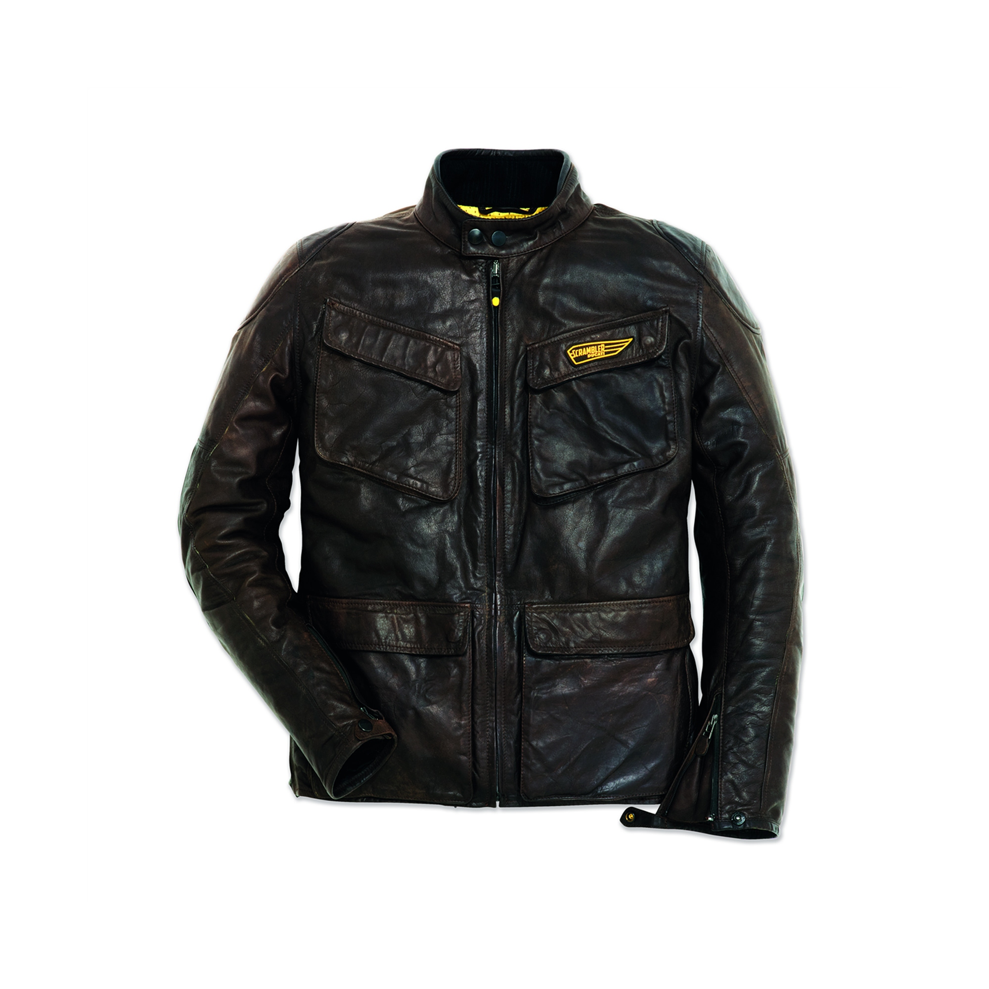 Leather jacket Quattrotasche