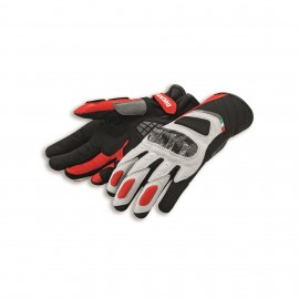 Leather-fabric gloves Sport C3 White-Red 0 S 7