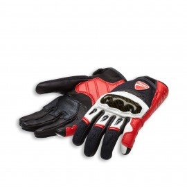 Fabric-leather gloves  Company C1 Red-White-Black 0 S 7.5-8