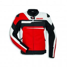 Blouson en cuir  Speed Evo C1 Rouge-Blanc-Noir Uomo 48 Standard