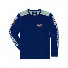 T-shirt manches longues Flat Track Blue Uomo