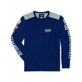 Long-sleeved T-shirt Flat Track Blue Man XS