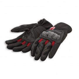 Handschuhe aus Leder und Stoff City C3