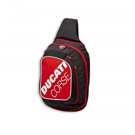 Sling backpack Ducati Corse Freetime 29x46x16 cm  red-white-black