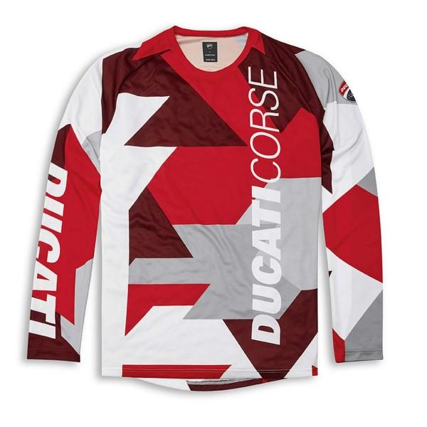 Long-sleeve technical T-shirt-Ducati corse MTB Men