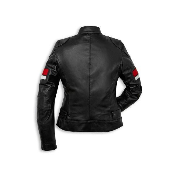 Leather jacket Ducati Urban Stripes Woman
