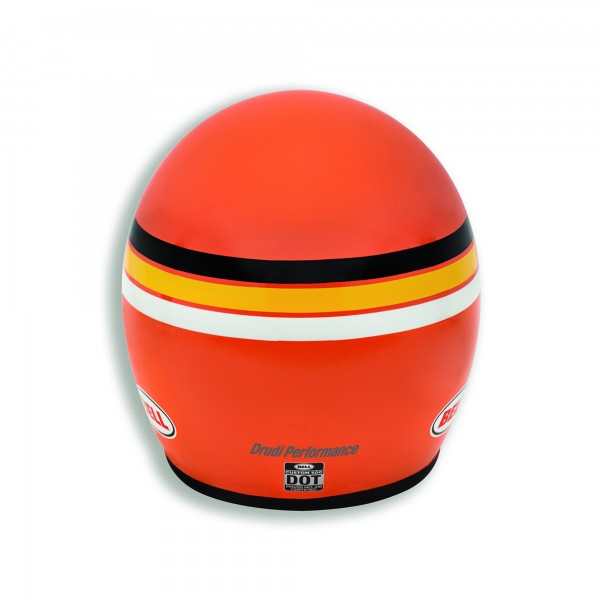 Open face helmet Orange Track
