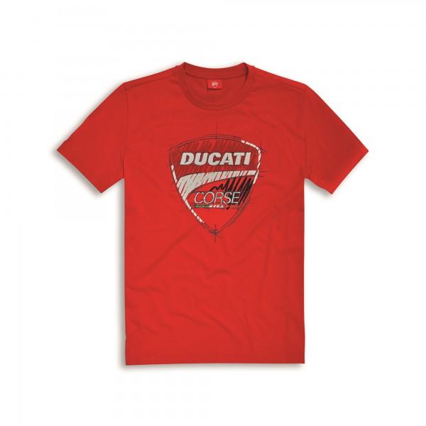 T-shirt Ducati Corse Sketch Uomo