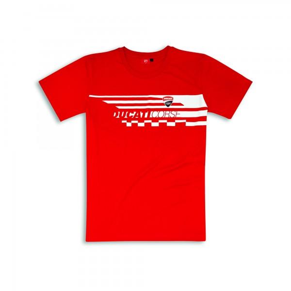T-shirt Red Check Uomo