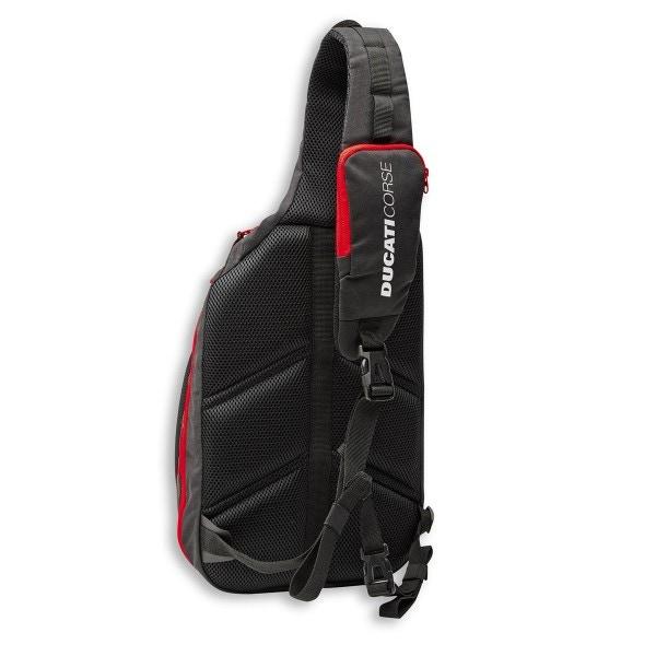 Mochila de una correa Ducati Corse Freetime 29x46x16 cm rojo-blanco-negro
