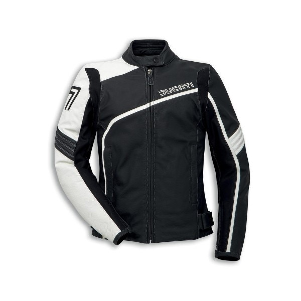 Leather jacket Historical Ducati 77 Woman