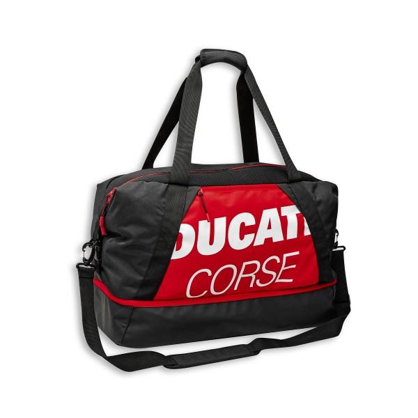 Sac de sport Ducati Corse Freetime 60x30x25 cm rouge-blanc-noir